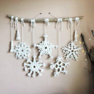 Macrame snowflakes